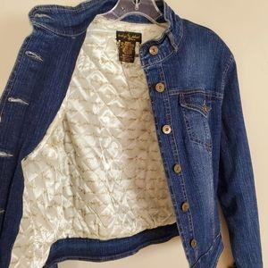Baby Phat Quilt Blue Denim Jacket Size M